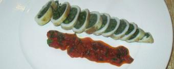 Calamari ripieni con asparagi