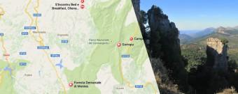 Cartina Supramonte Gennargentu