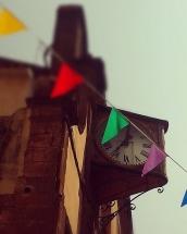 L'orologio della Chiesa del Rosario